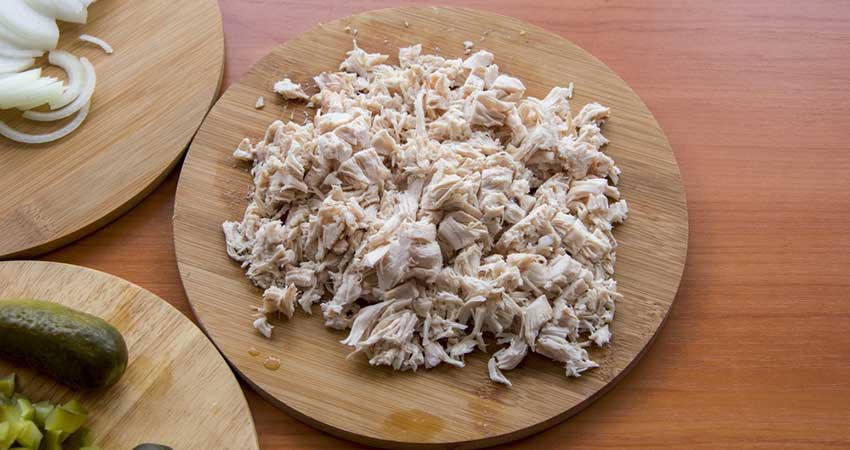 Shred Chicken with a Hand Mixer