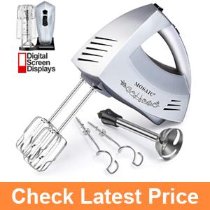 Hand Mixer Electric MOSAIC 300W 6 Speeds Digital Kitchen Mixer